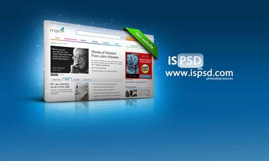 Webpage 3D display