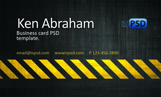 business-card-template-hazard-theme