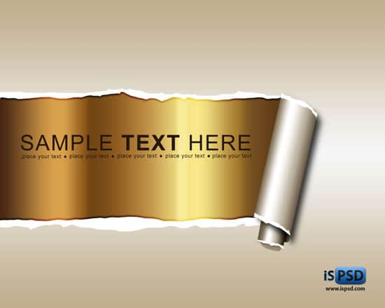 ripped_paper_displaying_golden_background