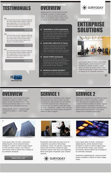 Grey Business Brochure PSD