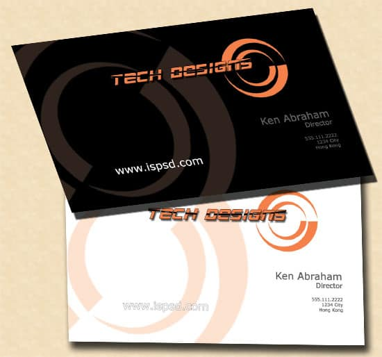 TechDesigns Black Techdesigns Business Cards  PSD