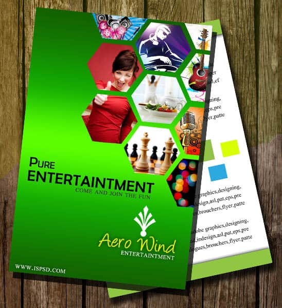 entertaintment flyer 30+ Free Collection Of Templates for Brochures