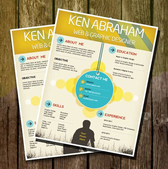 resume psd templates 30+ Free Collection Of Templates for Brochures
