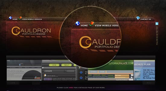 Cauldron Template Collection of Free PSD templates