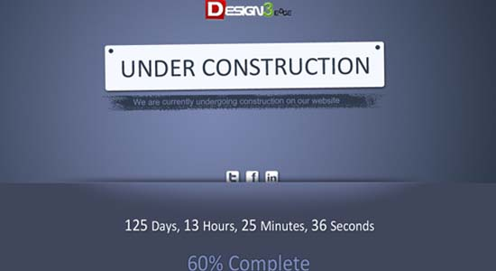 Creative Under Construction Template Collection of Free PSD templates