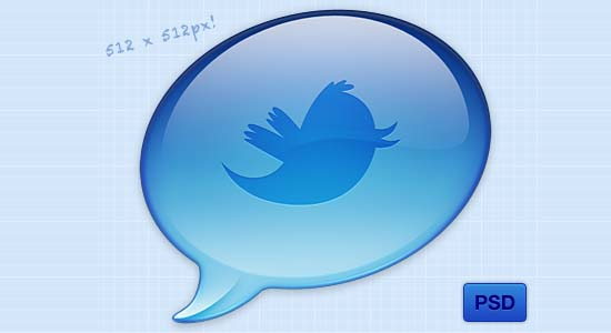 Twitter Icon PSD Collection of Free PSD templates