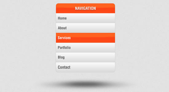 Vertical Navigation Menu PSD Collection of Free PSD templates
