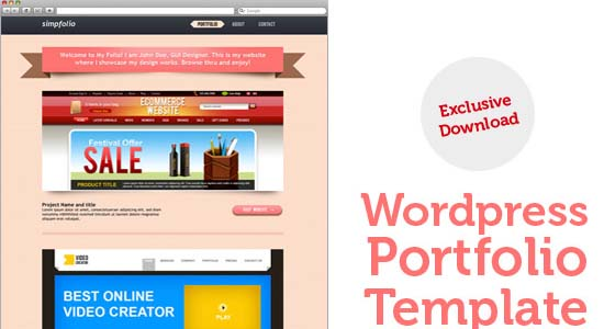 WordPress portfolio PSD template Collection of Free PSD templates