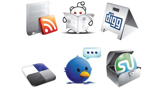 6 Free New Social Icons  100+ Cool Social Media & Web 2.0 Icons