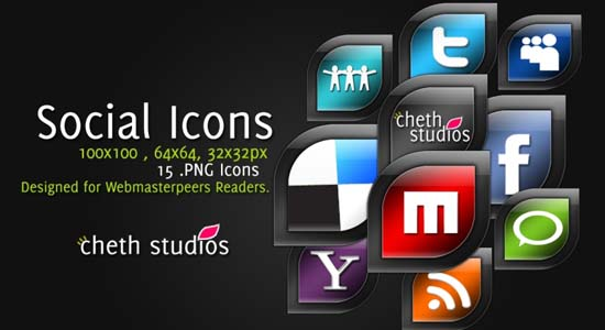 CS Social Icons 100+ Cool Social Media & Web 2.0 Icons