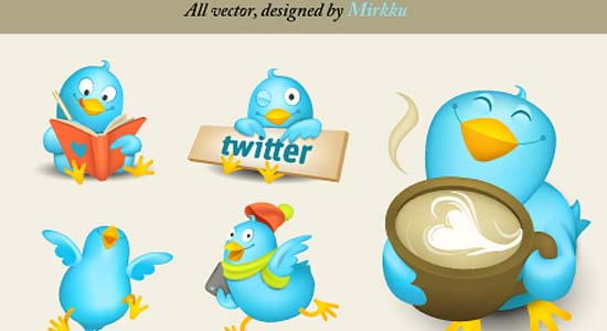 Cute Tweeters Icon Set 100+ Cool Social Media & Web 2.0 Icons
