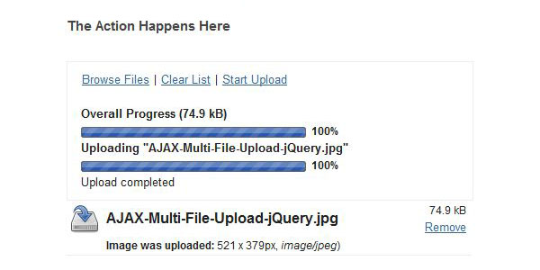 Digitalarld Swiff AJAX Uploader 20+ Jquery Ajax File Uploader Plugins for web developers