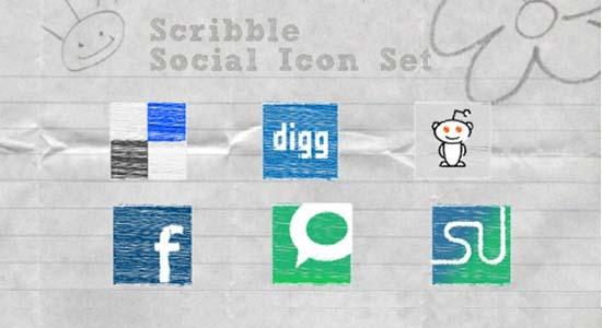 Exclusive Scribble Social Media Icon Set 100+ Cool Social Media & Web 2.0 Icons