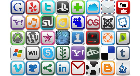 Icons 100+ Cool Social Media & Web 2.0 Icons