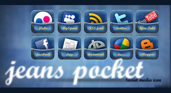 Jeans Pocket Social Media Icon Set 100+ Cool Social Media & Web 2.0 Icons