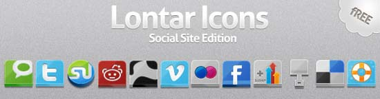 Lontar Icon Social Site Edition1 100+ Cool Social Media & Web 2.0 Icons