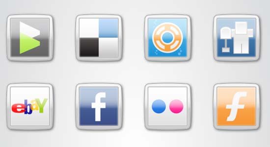 MSN Style Social Icons 100+ Cool Social Media & Web 2.0 Icons