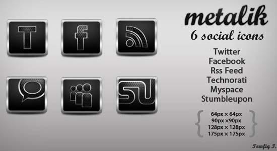 Metalik Social Icons