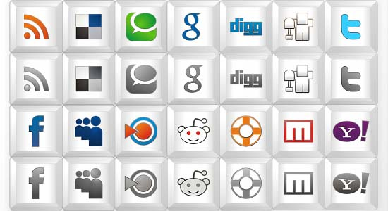 New free social icon set Key icons 100+ Cool Social Media & Web 2.0 Icons