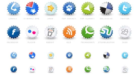 Set of social icons 100+ Cool Social Media & Web 2.0 Icons
