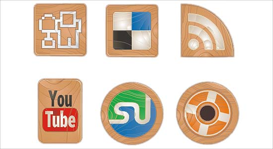 Social Icons Made of Wood 100+ Cool Social Media & Web 2.0 Icons