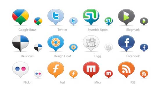 Social Media Balloons 100+ Cool Social Media & Web 2.0 Icons