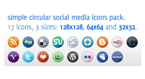 Social Media Icons Pack in 3 Sizes  100+ Cool Social Media & Web 2.0 Icons