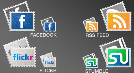 Social Stamps 100+ Cool Social Media & Web 2.0 Icons