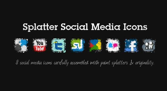 Splatter Social Media Icons 100+ Cool Social Media & Web 2.0 Icons