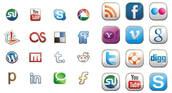 Two Free Social Media Icon Sets 100+ Cool Social Media & Web 2.0 Icons