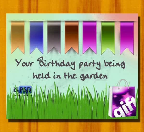 Birthday Banner PSD