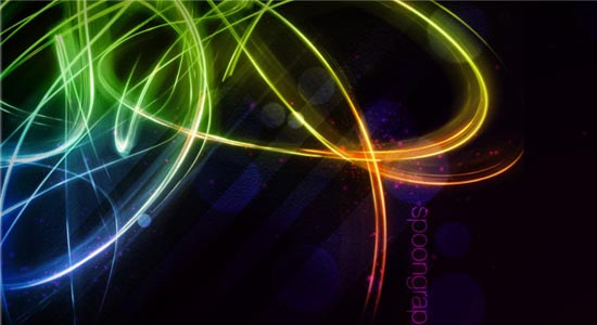 simple vibrant light effect 40+ Cool Texture Effects & Abstract Photoshop Tutorials