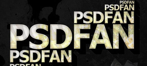 08 27 psdfan grunge 50+ Creative Photoshop Text Effects Tutorials
