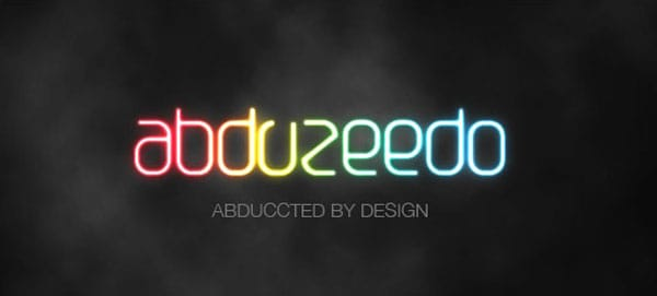 08 28 asbuzeedo neon 50+ Creative Photoshop Text Effects Tutorials