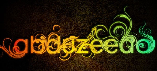08 29 asbuzeedo swirls 50+ Creative Photoshop Text Effects Tutorials