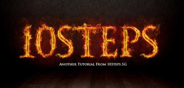 1 wild fire effect 50+ Creative Photoshop Text Effects Tutorials