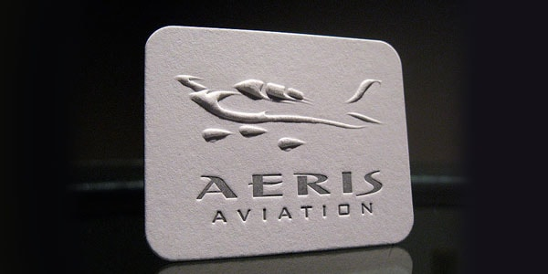 Aeris Aviation Embossed 60+ Embossed Business Cards for Inspiration