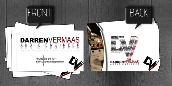 Audio Engineer Business Card 50+ Dj Music Business Cards & Designs