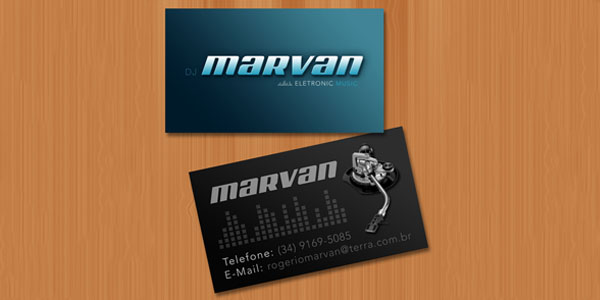 Business Card DJ Marvan 50+ Dj Music Business Cards & Designs