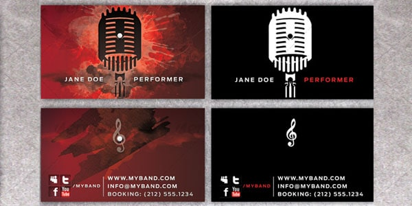 Business Card for Performing Artists 50+ Dj Music Business Cards & Designs