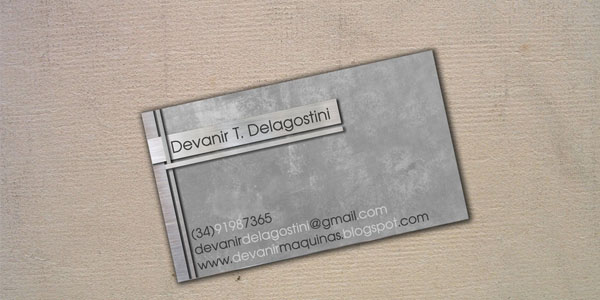 Business Card by delagostini 30+ Awesome Metal Business Card Designs