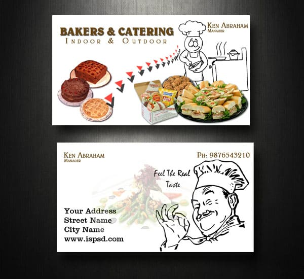 Catering Business Cards Catering Business Card PSD