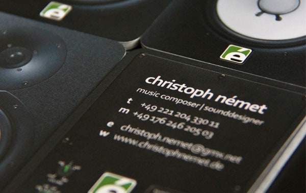 Christoph Nemet 50+ Dj Music Business Cards & Designs