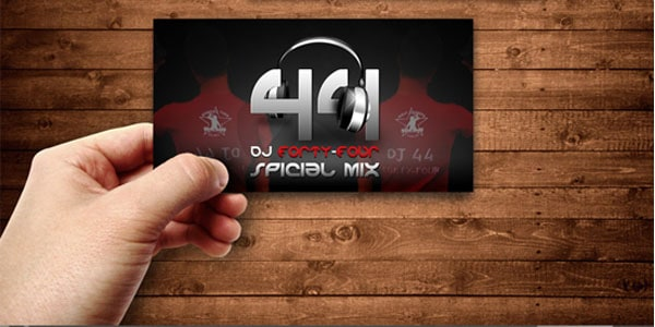DJ 44 Business Card 50+ Dj Music Business Cards & Designs