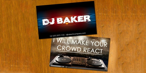 DJ Baker Business Card 50+ Dj Music Business Cards & Designs