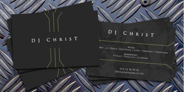 DJ ChrisT Contact Card