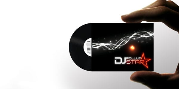 DJ Pollux Star Business Card 50+ Dj Music Business Cards & Designs