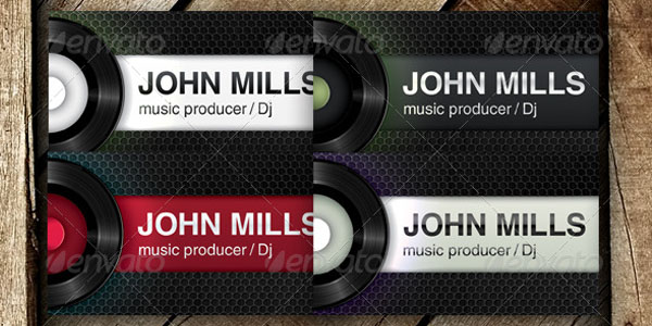 50 dj music business cards designs dj producer club wajeb Gallery