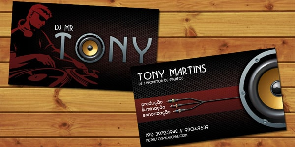 Dj Mr Tony Business Card 50+ Dj Music Business Cards & Designs