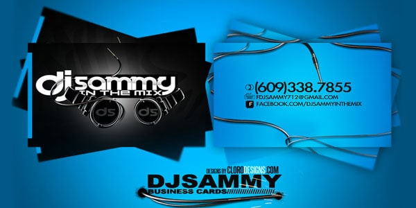 Djsammy Business card 50+ Dj Music Business Cards & Designs